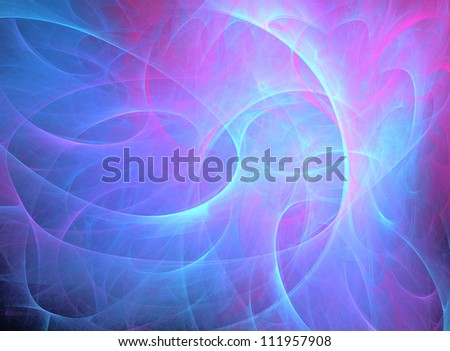 bright blue fractal background with curve