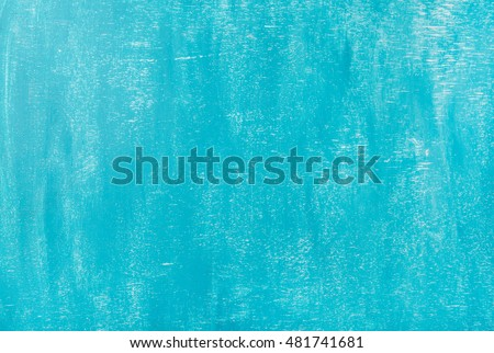 Bright blue painted old plywood texture, background and wallpaper #481741681