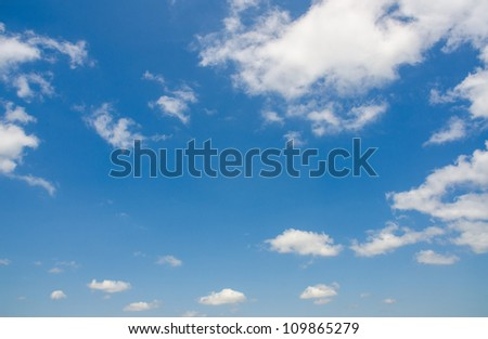 Bright blue sky in summer day