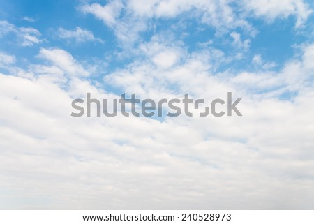 Bright blue sky with white clouds
