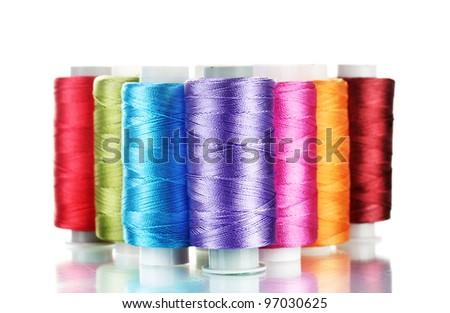 bright bobbin thread isolated on white