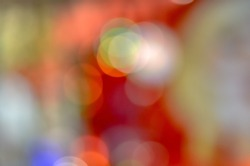 Bright bokeh created by focusing on reflecting bubbles  On a black background