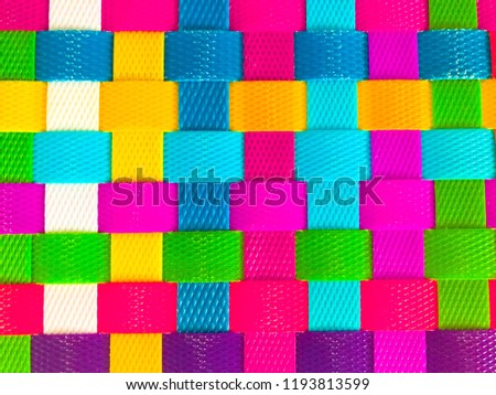 Bright, bold colorful weave background. Vivid colors. Vibrant colours. #1193813599