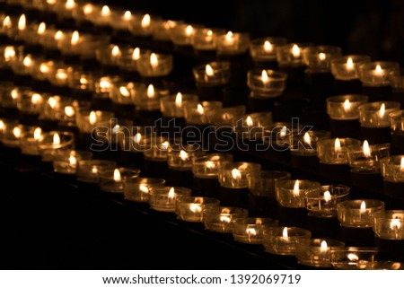 Bright candle candle light celebration #1392069719