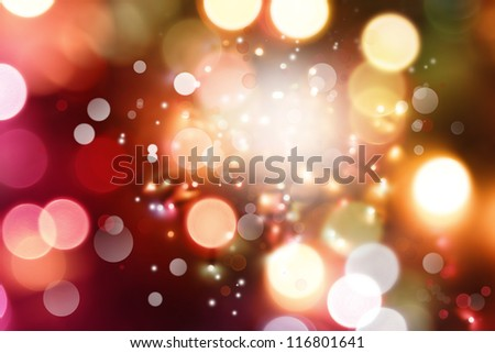Bright circles of light abstract background