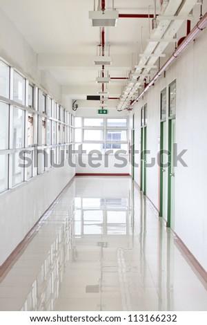 bright clean hallway