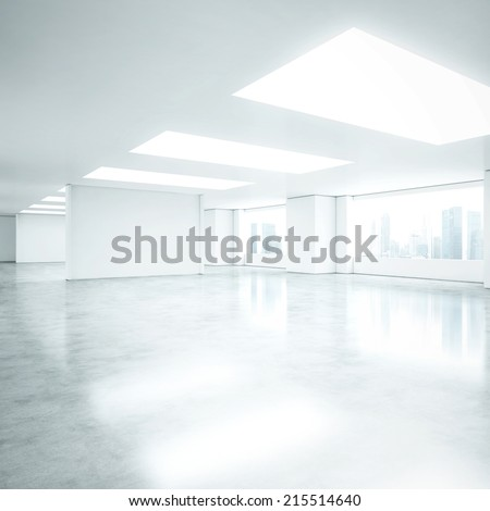 bright clean interior. empty...