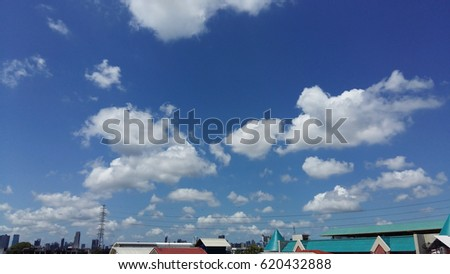 bright cloud on sky background...