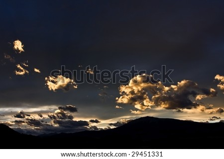 Bright clouds