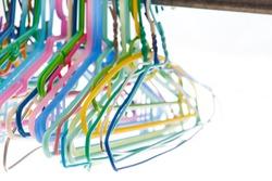 Bright color clip in coat hanger