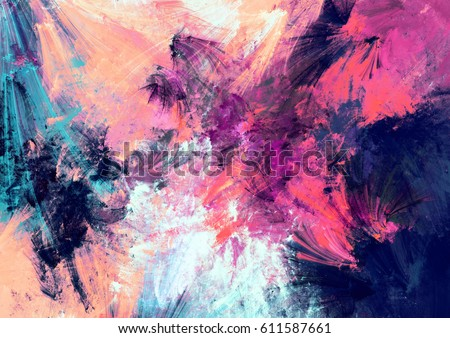 Stock Photo Bright color fireworks. Abstract painting color texture. Artistic motion holiday background. Modern multicolor futuristic dynamic pattern. Fractal artwork for creative graphic design