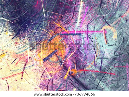 Bright color fireworks. Abstract painting multicolor  texture. Artistic motion holiday background. Modern multicolor futuristic dynamic pattern. Fractal artwork for creative graphic design.