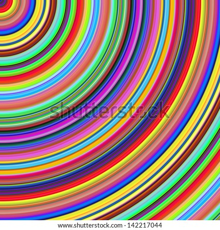 Bright color semicircles abstract illustration.