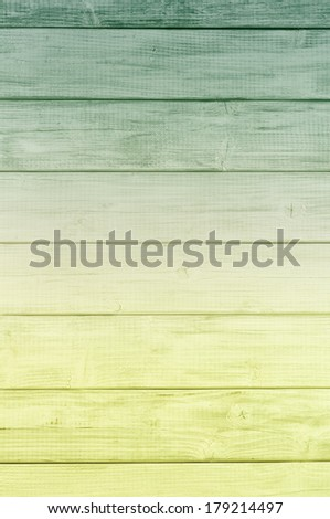 Bright Color Spectrum Dark Green to Yellow Green Rustic painted board Background, perfect for St. Patricks Day or Christmas with room or space for copy, text, words, designs