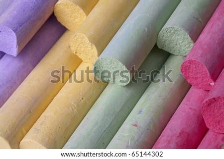 Bright colored crayon