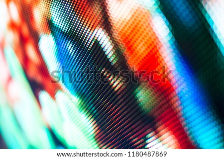 Bright colored LED smd screen - close-up texture abstract background. #1180487869