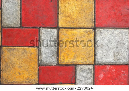 Bright colored paving slab texture/background #2
