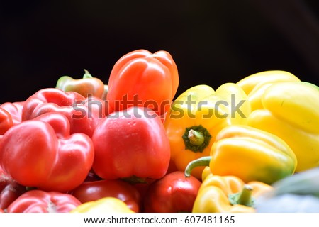 Bright colored Vegetables #607481165