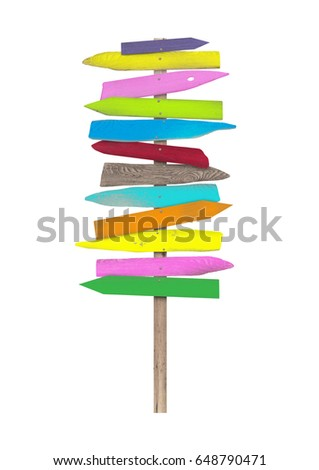 bright colorful blank wooden...
