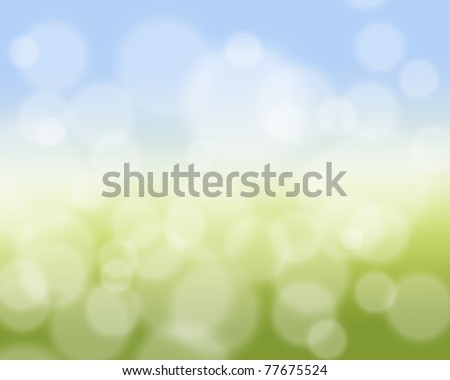 Bright colorful spring background illustration.