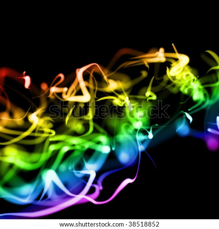 Neon Backgrounds on Bright Colorful Wavy Smooth Neon Background In Perspective Stock Photo