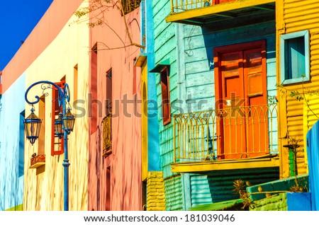 Bright colors of Caminito in La Boca neighborhood of Buenos Aires #181039046
