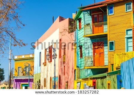 Shutterstock Bright colors of Caminito street in La Boca neighborhood of Buenos Aires, Argentina