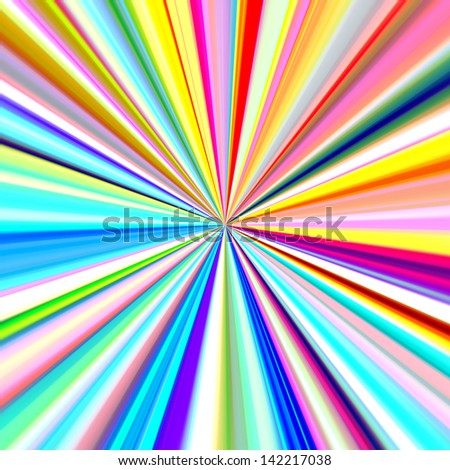 Bright colors pinpoint explosion illustration.