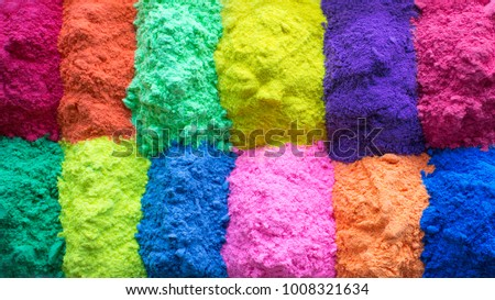 Bright colours for Indian holi festival. Colorful gulal (powder colors) for Happy Holi. #1008321634