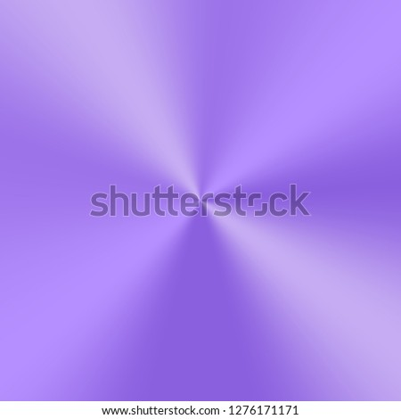 Bright conical gradient of violet color. Polished plate with shiny highlights.