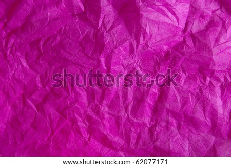 Bright crimson background - crumpled paper.