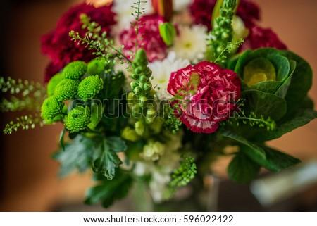 Bright cut flowers