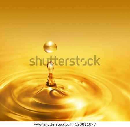 bright dripping oil close up as background