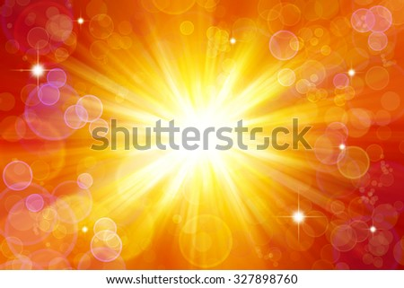 Bright Explosion. Circles And Stars On Yellow And Orange ...