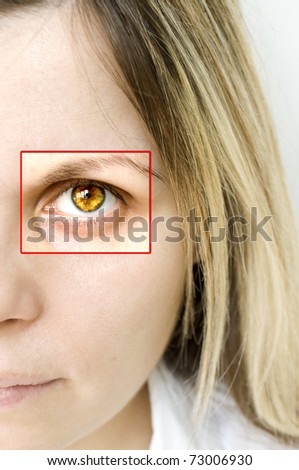bright eye and face of women
