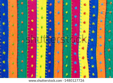 Bright fabric. Indian fabric with ornament. Fabric background. #1480127726