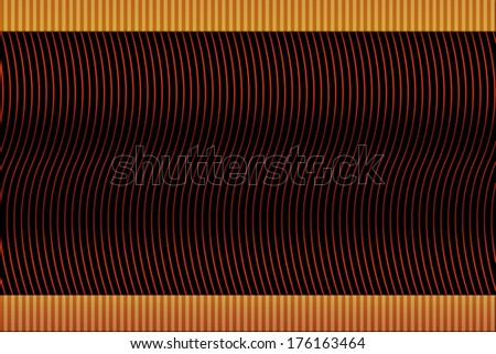 Bright fiery lines on black background with top and bottom inserts