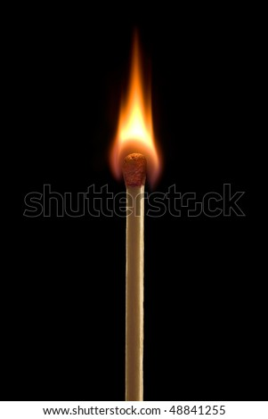 Bright fire on a black background.