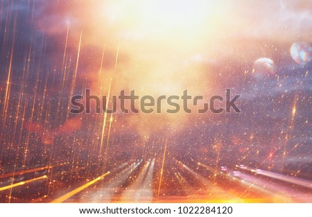 Bright galaxy or fantasy background. Abstract light burst . magical and mystery concept #1022284120