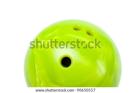 bright green bowling ball