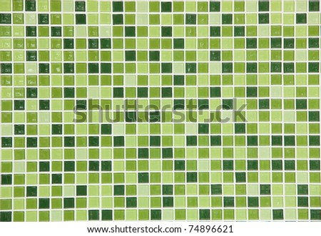 Bright green ceramic Wall background