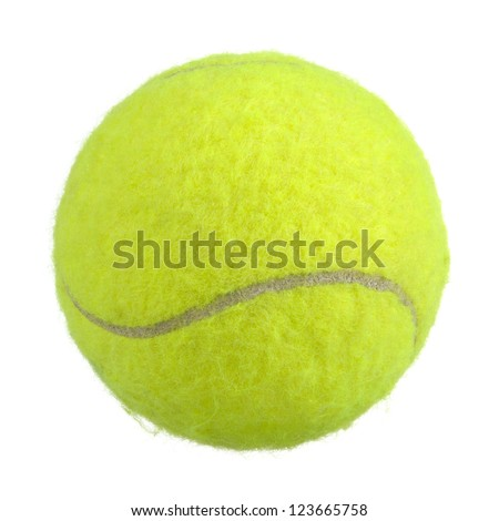 Bright Green Lawn Tennis Ball Isolated on White Background