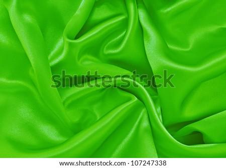 Bright Green Satin Background