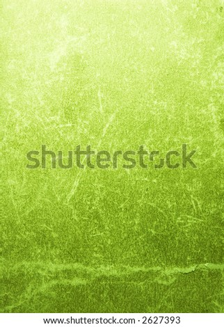 Bright, grunge, marsh (green) book cover with cracks and scratches.