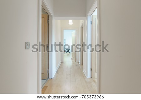 Bright hallway in an apartment #705373966