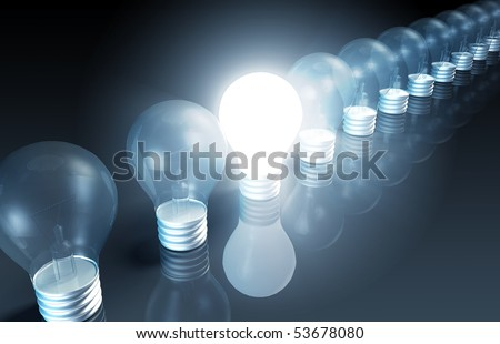 Bright Idea Concept out of New Creative Ideas
