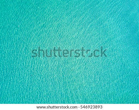 Bright light blue transparent clean Water - Picture taken from above #546923893