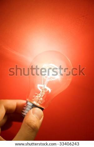 Bright Light Bulb close up shot