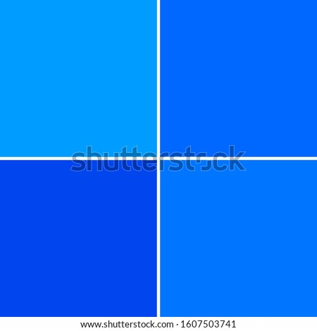bright light, medium an darker blue raster illustration background image with narrow white divider strips in four quadrants. backdrop and web presentation template. harmonic blue creation. Stock photo ©