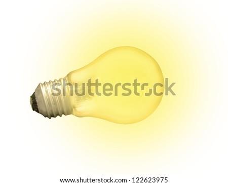 Bright lightbulb isolated on white